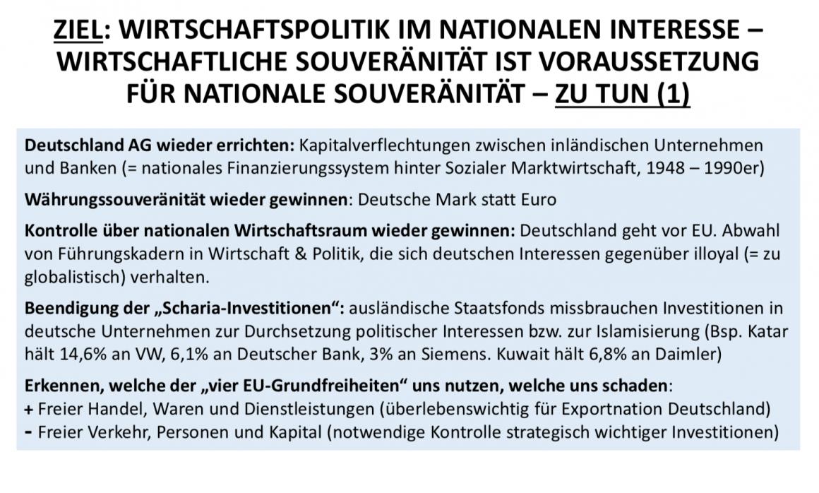 Wirtschaftspolitik im nationalen Interesse